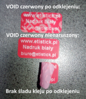 Czerwona plomba VOID - działanie